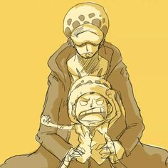Angry young Law and older Law - Trafalgar D. Water Law One piece