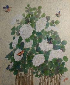 제6회 대한민국 전통채색화 공모대전 입상작과 특별 초대작가전 : 네이버 블로그 Japan Painting, Folk, Embroidery, Plants, Korean, Decor, Paintings, China, Illustration