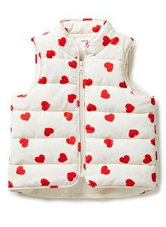 Girls Jackets & Coats | Hearts Puffa Vest | Seed Heritage  #heart #love