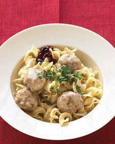 This Scandinavian favorite goes from appetizer to main in a flash (just add noodles), and it's ready when you are. It's traditional to serve these meatballs with sweet-tart lingonberry jam