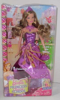 2011 Barbie Princess Charm School: School Girl Schoolgirl Princess Delancy Doll by Mattel Love the Tiara