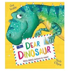 Dear Dinosaur: With Real Letters to Read! by Chae Strathie/ Nicola O'Byrne #homelibrary #booktrotters