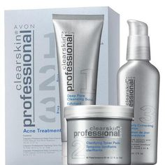 Avon Clearskin Professional Acne Treatment System Campaign 4 Price $28.00 Express Delivery @ www.KarensAvon.com Formulated with a blend of key ingredients: - Salicylic Acid* OTC active treatment to...