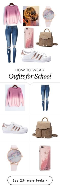 """""""School outfit idea.."""" by elzie99 on Polyvore featuring WithChic and adidas"""