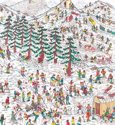 Congratulations to Greg Haworth, the winner of our original, one-off Where's Wally? illustration from Save the Children UK's Christmas. Where's Waldo Pictures, Wo Ist Walter, Ou Est Charlie, Diy For Kids, Crafts For Kids, Wheres Wally, Picture Writing Prompts, Hidden Pictures, Hidden Objects
