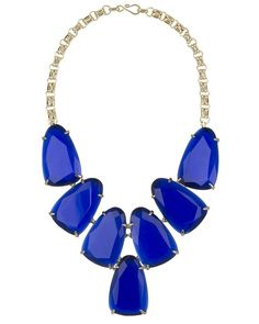 Harlow Statement Necklace in Cobalt