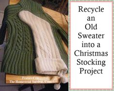 The Homestead Survival | Recycle an Old Sweater into a Christmas Stocking Project | http://thehomesteadsurvival.com