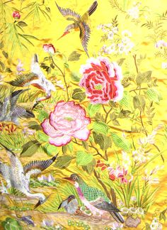 Chinese silk embroidered bed cover c1930