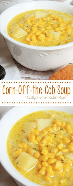 Corn Off the Cob Soup - A simple and delicious soup that features fresh corn from the cob! This soup is a quick weeknight dinner year-round!