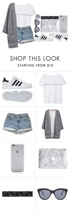 """Baby I'll change your mind// The Summer Set"" by antisocial-vagabond ❤ liked on Polyvore featuring adidas, MANGO, Native Union, Akira, Le Specs and MICHAEL Michael Kors"