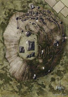 Mountain Temple Complex farmland deciduous forest desert