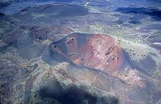 Aerial photo of Craters of the Moon, Butte County, Idaho, ID  United States