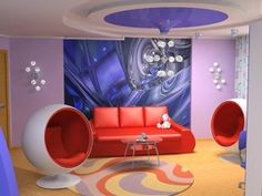 Retro-Futuristic Interior, Retro, Futuristic Armchair, Modern, Futuristic Furniture by FuturisticNews.com