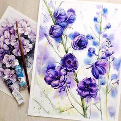 Watercolorist: @ihappygirl #waterblog #акварель #aquarelle #painting…