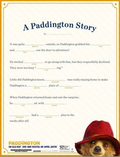 a literary analysis of a bear called paddington Literature unit study ideas for a bear called paddington: includes science, history, and fine arts activities as well as booklists and other resources.