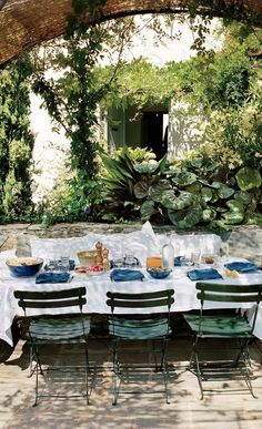 The terrace of Karl Fournier and Olivier Marty's home in Corsica.