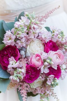love these pinks! Love Gives Way collective http://ruffledblog.com/love-gives-way-wedding-shoot #wedding #flowers #bouquet
