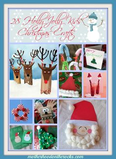 28 Holly Jolly #Christmas #Crafts for Kids - Motherhood on the Rocks