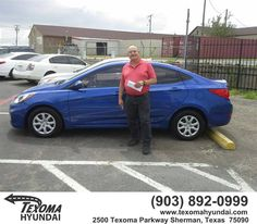 https://flic.kr/p/L7TwYZ   Congratulations Robert on your #Hyundai #Accent from Mike Burdette at Texoma Hyundai!   deliverymaxx.com/DealerReviews.aspx?DealerCode=L967