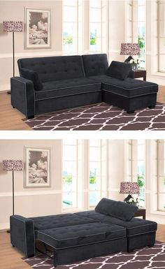 the jacqueline pullout sectional is more than just a couch with an under seat storage