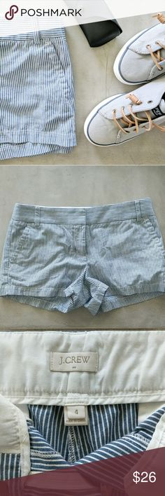 J. Crew Shorts Never worn J.Crew pinstripe shorts, perfect for a day on the water J. Crew Shorts
