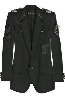 Balmain studded military blazer