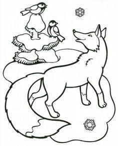 """Színező """"Az állatok télen az erdőben"""", hogy töltse le és nyomtassa ki ingyen"""