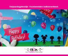 Een vierdubbel verjaardagsfeestje komt er weer aan! Dit jaar kozen de kindjes als thema ballonnen. De uitnodigingen zijn al klaar. Benieuwd hoe we de rest ..