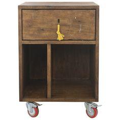 Inspiration for DIY bedside tables.   (Art School Bedside Table Natural)