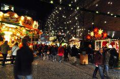 kerstmarkten in Munster, Duitsland