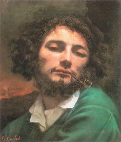 Self-Portrait (The Man with a Pipe) - Gustave Courbet - Romanticism, 1849