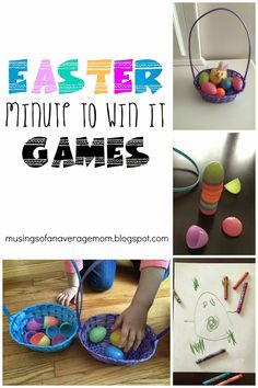 Simple Easter Minute to Win It Games for Kids