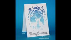 Everyday Christmas card series using bleach Merry Christmas Card, Christmas 2017, Bleach, Memories, Box, Videos, Youtube, Memoirs, Souvenirs