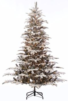 Pre-lit Aspen Green Fir Flocked Artificial Christmas Tree with 700 Clear Lights #ChristmasTree #Artificial #AspenGreen #PreLit #AspenGreenFir #GreenFir #ClearLights #Christmas #ChristmasDecor #Holiday #Seasonal #HomeDecor #HolidayDecor