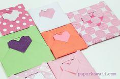 Origami Heart Envelope Video Tutorial - Paper Kawaii