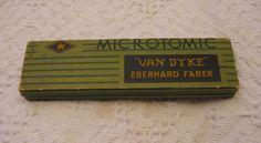Vintage Microtomic Van Dyke Eberhard Faber Empty Pencil Box USA