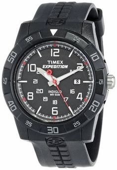 Timex Men's T49831 Expedition Rugged Analog Black Resin Strap Watch $33.18 http://roksmu.blogspot.com/2014/07/expedition-watches.html