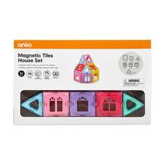 38 Piece Magnetic Tiles House Set   Kmart Magnets, Tiles, Presents, Help Teaching, Colours, Shapes, Fine Motor Skills, House