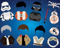 Instant Download Space Wars Photo Booth Props Printable Star