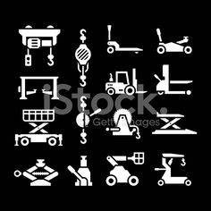 Set icons of lifting equipment royalty-free stock vector art
