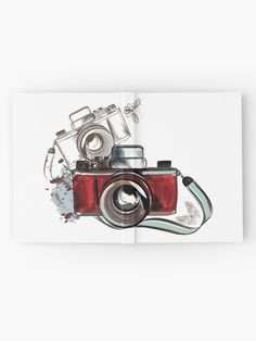 'Old School Camera Retro Vintage Photography' Hardcover Journal by Journal Design, Vintage Cameras, Vintage Photography, Old School, Retro Vintage, Notebook, Stuff To Buy, Vintage Style Photography, Newspaper Design
