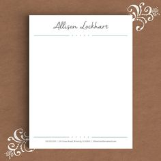 Letterhead template in microsoft word college success pinterest letterhead template for word custom by thetemplatestudio on etsy spiritdancerdesigns Gallery