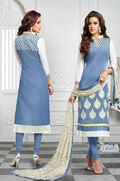 KING SALES NEW LATEST BEAUTIFUL WHITE AND LIGHT BLUE EMBROIDERED PARTY WEAR SUITS  ..TOP FABRIC: CHANDERI ..TOP COLOR: WHITE & LIGHT BLUE ..TOP LENGTH: 42 INCHES ..TOP SIZE: UP TO 40 ..BOTTOM FABRIC: COTTON ..BOTTOM COLOR: LIGHT BLUE ..DUPPATTA FABRIC: CHIFFON ..DUPPATTA COLOR: WHITE ..SUIT TYPE: UNSTITCHED ..STYLES: CHUDIDAR SUITS ..WORK: EMBROIDERED ..OCCASION: PARTY WEAR, FESTIVAL, EVENTS ..CATALOGUE NO: KSA154-4018