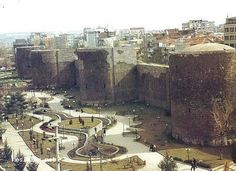 Diyarbakır, southeast Turkey. My first view of the Tigris River was from these Byzantine walls.
