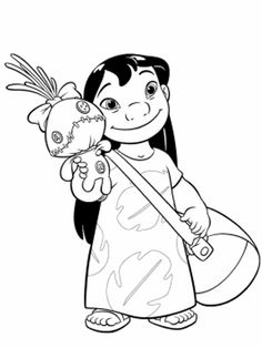 Cute Lilo Coloring Page From Stitch Category Select 25680 Printable Crafts Of