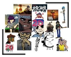 """""""Gorillaz : )"""" by arkitten ❤ liked on Polyvore featuring art"""