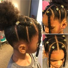 Cute Little Girl Hairstyles, Black Kids Hairstyles, Baby Girl Hairstyles, Natural Hairstyles For Kids, Kids Braided Hairstyles, Young Girls Hairstyles, Gorgeous Hairstyles, Holiday Hairstyles, Girl Haircuts