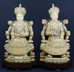 Chinese Ivory Carvings, ca. 1950