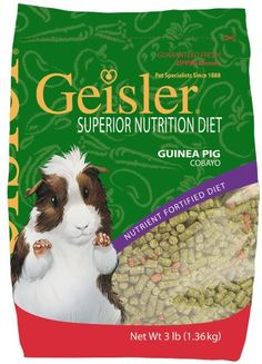 $10.85-$9.99 Sergeant's Geisler Superior Nutrition 3-Pound Guinea Pig Diet - Sergeant's geisler superior nutrition 3-pound guinea pig diet. http://www.amazon.com/dp/B002J9HQOS/?tag=pin2pet-20