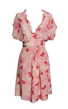 dahlia print dress